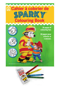 Sparky\'s Colouring Book & Crayons Set - Firehall Bookstore